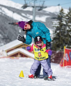 kids ski Meribel Mottaret